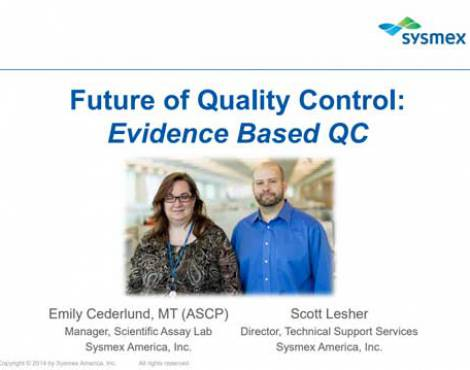 Future of quality control